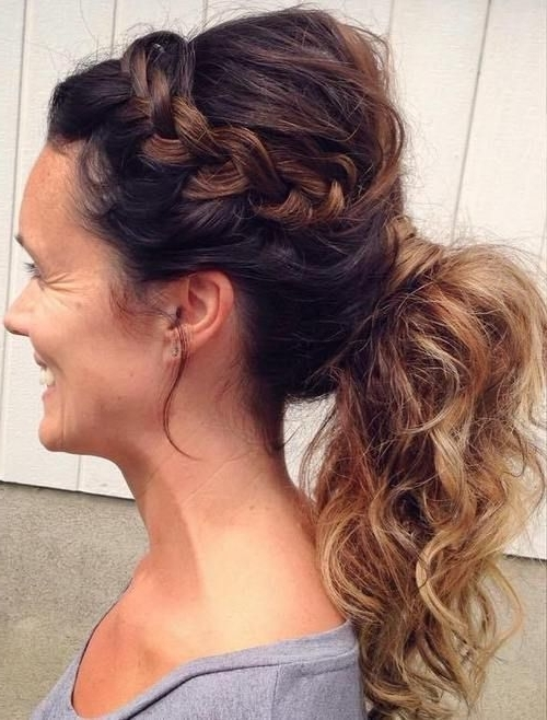 40 Stylish Long Hairstyles For Older Women | ~ Hair ~ | Pinterest Throughout Side Braid Hairstyles For Curly Ponytail (View 20 of 25)