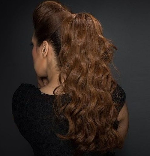 40 Super Simple Messy Ponytail Hairstyles – Page 12 – Foliver Blog With Regard To Retro Glam Ponytail Hairstyles (View 5 of 25)