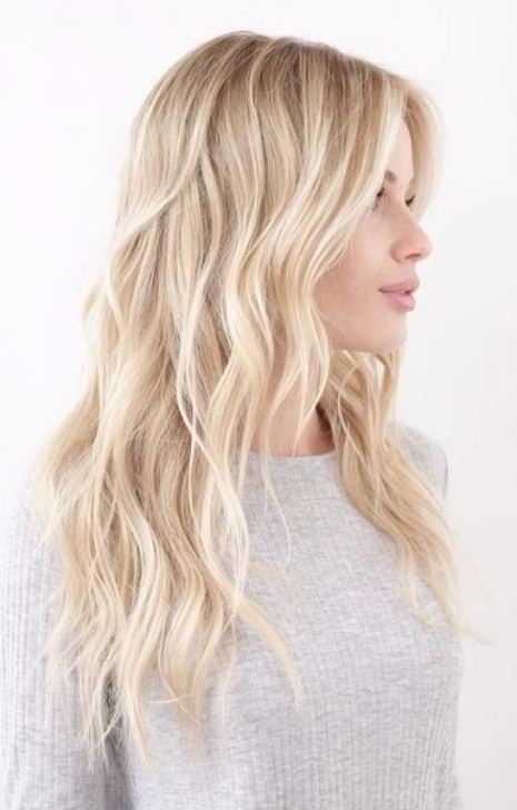 40 Top Hairstyles For Blondes Throughout Gently Angled Waves Blonde Hairstyles (View 22 of 25)