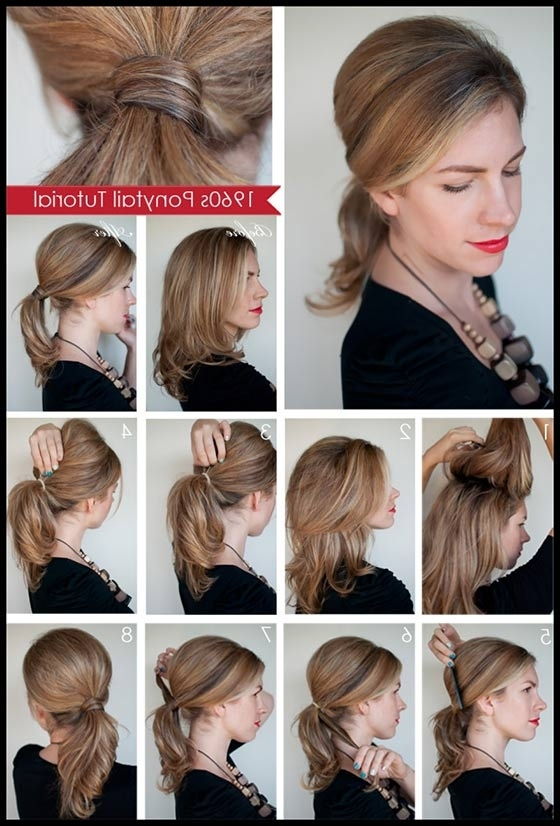 40 Top Hairstyles For Women With Thick Hair Pertaining To Casual Retro Ponytail Hairstyles (View 7 of 25)