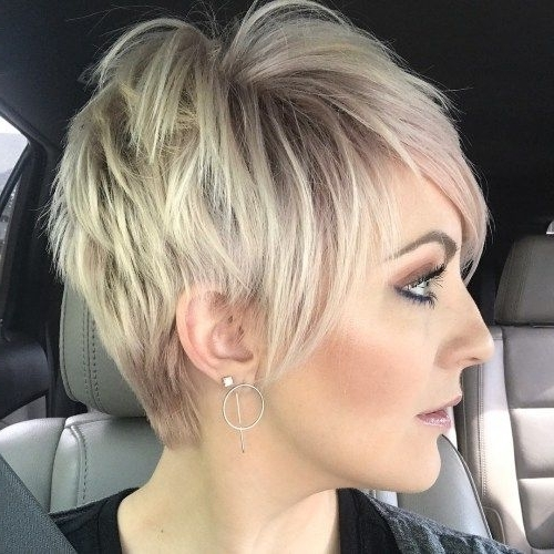 Featured Photo of Disconnected Blonde Balayage Pixie Hairstyles