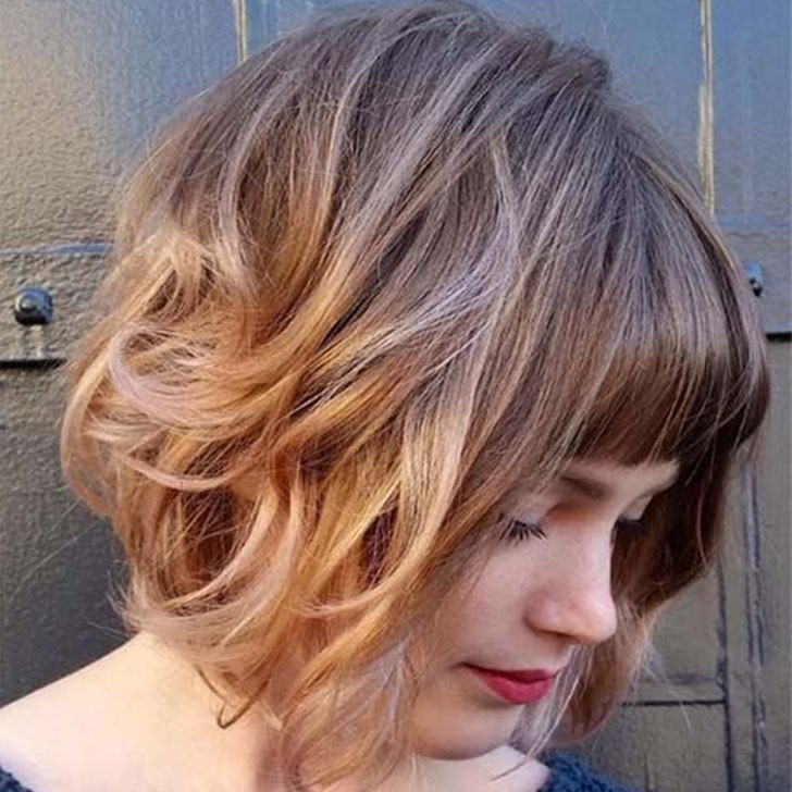 40 Wavy Bob Hairstyles That Look Gorgeous And Stunning Throughout Curly Caramel Blonde Bob Hairstyles (View 13 of 25)
