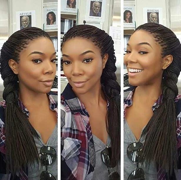 41 Beautiful Micro Braids Hairstyles | Stayglam Pertaining To Micro Braid Ponytail Hairstyles (View 14 of 25)