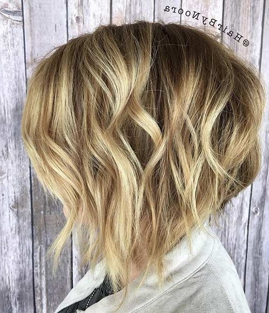 41 Best Inverted Bob Hairstyles | Page 2 Of 4 | Stayglam In Bouncy Caramel Blonde Bob Hairstyles (View 11 of 25)