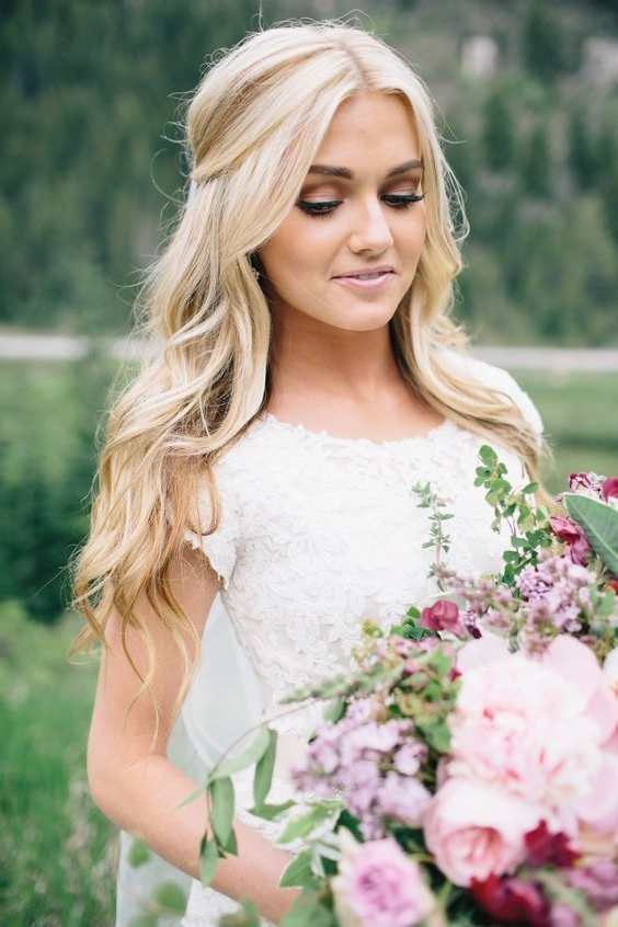 41 Best My Wedding ? Images On Pinterest | Weddings, Wedding Ideas Intended For White Wedding Blonde Hairstyles (View 9 of 25)