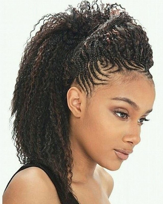 41 Cute And Chic Cornrow Braids Hairstyles In Chic High Ponytail Hairstyles With A Twist (View 16 of 25)