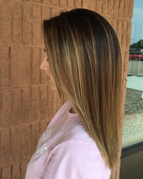 41 Incredible Dark Brown Hair With Highlights (Trending For 2018) Intended For Brunette Hairstyles With Dirty Blonde Ends (View 19 of 25)