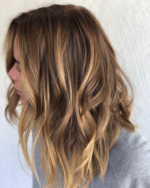 41 Incredible Dark Brown Hair With Highlights (Trending For 2018) Intended For Maple Bronde Hairstyles With Highlights (View 22 of 25)