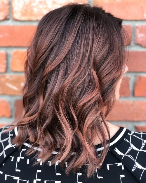41 Incredible Dark Brown Hair With Highlights (Trending For 2018) Within Maple Bronde Hairstyles With Highlights (View 21 of 25)