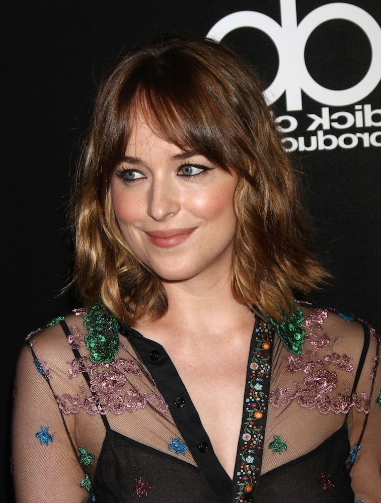 42 Cool Girl Hairstyles With Bangs – Thefashionspot Inside Half Pony Hairstyles With Parted Bangs (View 16 of 25)