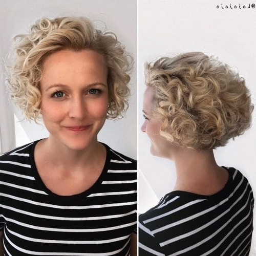 42 Curly Bob Hairstyles That Rock In 2018 Regarding Asymmetrical Curly Ponytail Hairstyles (View 22 of 25)