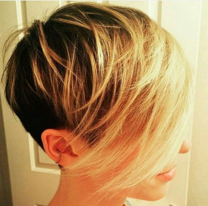 42 Ideas Balayage Pixie Hairstyle | Balayage Hairstyle | Pinterest In Recent Disconnected Blonde Balayage Pixie Hairstyles (View 6 of 25)