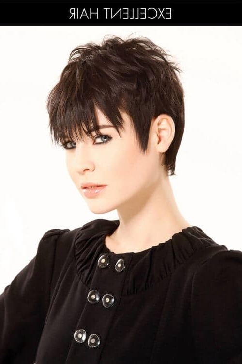 43 Perfect Short Hairstyles For Fine Hair In 2018 Intended For Most Popular Sassy Undercut Pixie Hairstyles With Bangs (View 17 of 25)