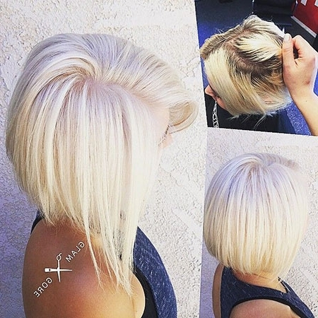 43 Short Platinum Blonde Hair Color Ideas – Blonde Hairstyles 2017 Regarding Stacked White Blonde Bob Hairstyles (View 23 of 25)