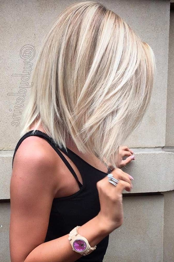 43 Superb Medium Length Hairstyles For An Amazing Look | Hair Throughout Fresh And Flirty Layered Blonde Hairstyles (View 18 of 25)