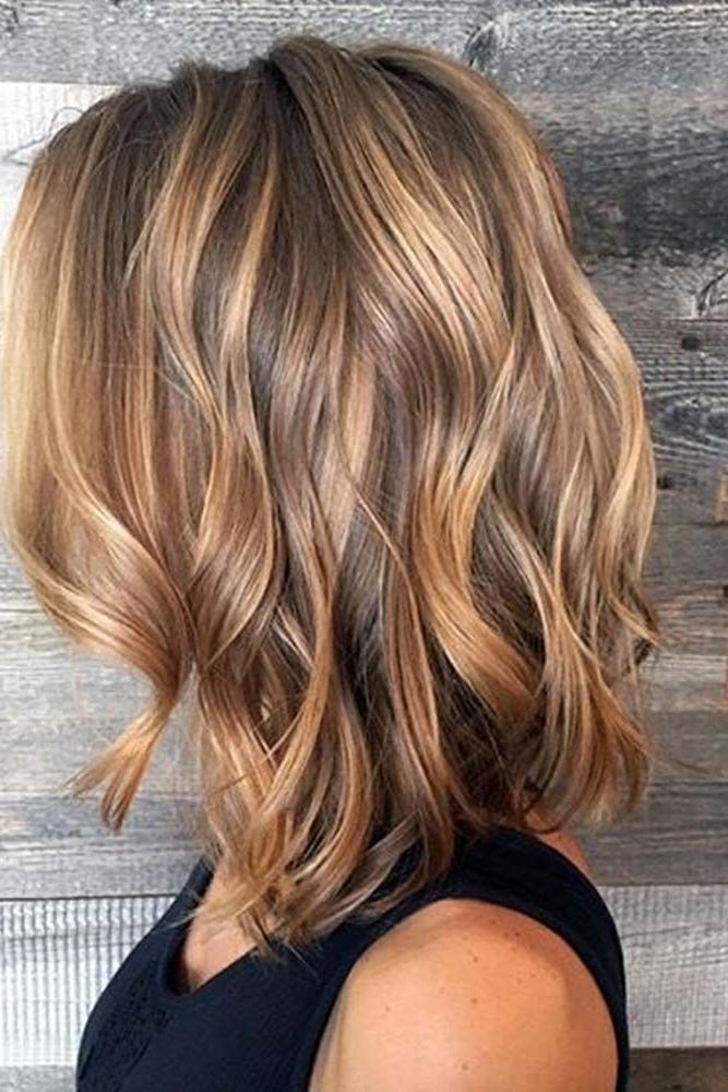 44 Balayage Hair Ideas In Brown To Caramel Tone | Hair Styles Throughout Wavy Caramel Blonde Lob Hairstyles (View 4 of 25)