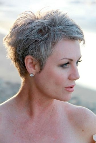 44 Stylish Short Hairstyles For Women Over 50 | Lovehairstyles Throughout Most Current Tapered Pixie Hairstyles With Maximum Volume (View 17 of 25)