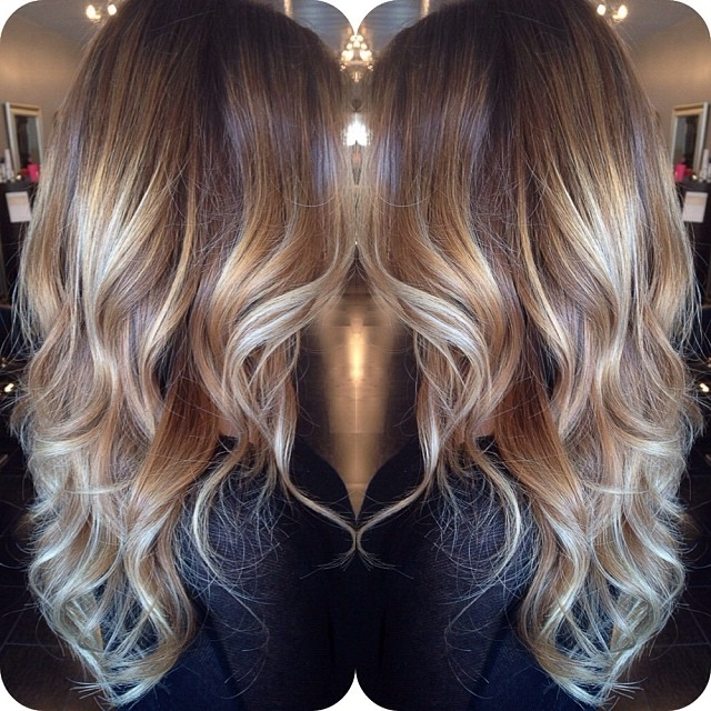 45 Balayage Hairstyles 2018 – Balayage Hair Color Ideas With Blonde For Brown Blonde Layers Hairstyles (View 9 of 25)
