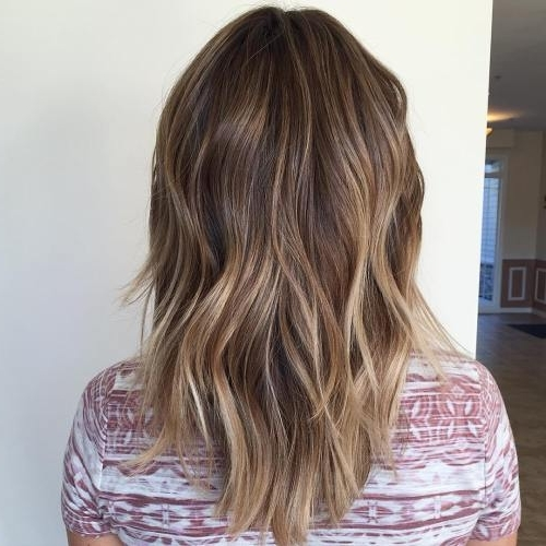 45 Balayage Hairstyles 2018 – Balayage Hair Color Ideas With Blonde With Ash Blonde Lob With Subtle Waves (View 9 of 25)
