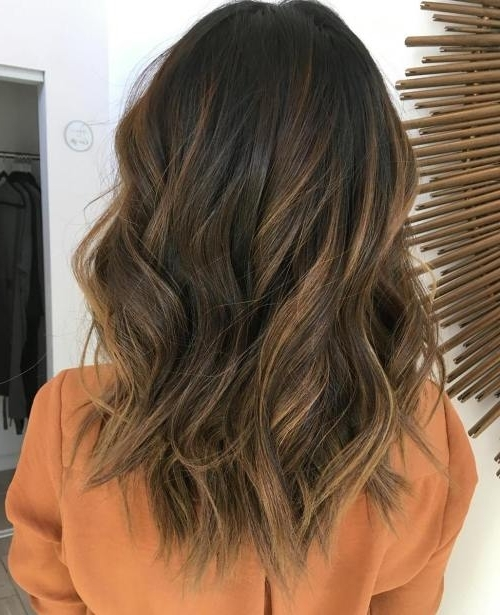45 Balayage Hairstyles 2018 – Balayage Hair Color Ideas With Blonde With Regard To Wavy Caramel Blonde Lob Hairstyles (View 23 of 25)