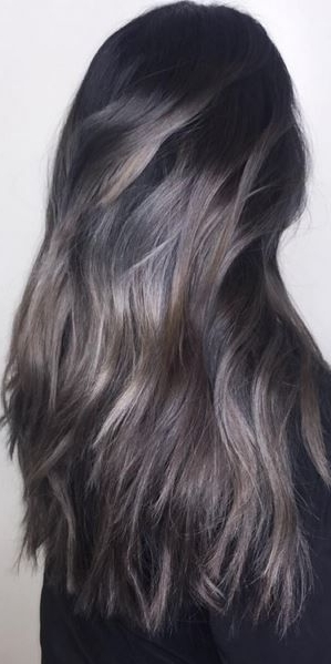 45 Silver Hair Color Ideas For Grey Hairstyles | Hairstyle In Dark Brown Hair Hairstyles With Silver Blonde Highlights (View 2 of 25)