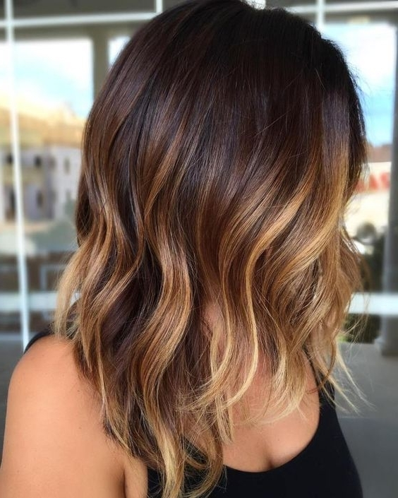 45 Sunny And Sophisticated Brown With Blonde Highlight Looks Pertaining To Contrasting Highlights Blonde Hairstyles (View 11 of 25)