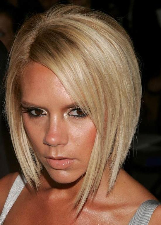 45 Victoria Beckham Hairstyles Pertaining To Posh Bob Blonde Hairstyles (View 21 of 25)