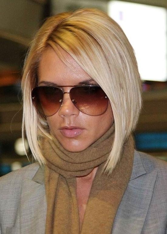 45 Victoria Beckham Hairstyles Pertaining To Posh Bob Blonde Hairstyles (View 5 of 25)