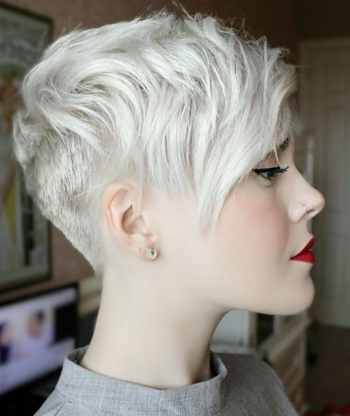 47 Amazing Pixie Bob You Can Try Out This Summer! For Most Up To Date Ash Blonde Pixie Hairstyles With Nape Undercut (View 7 of 25)