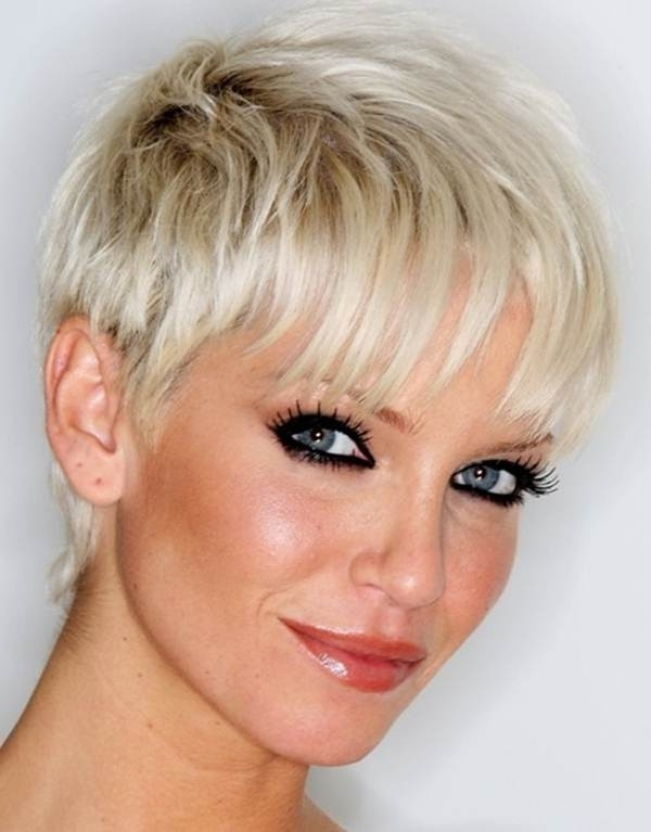 47 Amazing Pixie Bob You Can Try Out This Summer! Within Latest Blonde Pixie Hairstyles With Short Angled Layers (View 18 of 25)