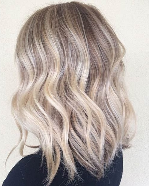 47 Hot Long Bob Haircuts And Hair Color Ideas | Stayglam Hairstyles Regarding Pearl Blonde Bouncy Waves Hairstyles (View 5 of 25)