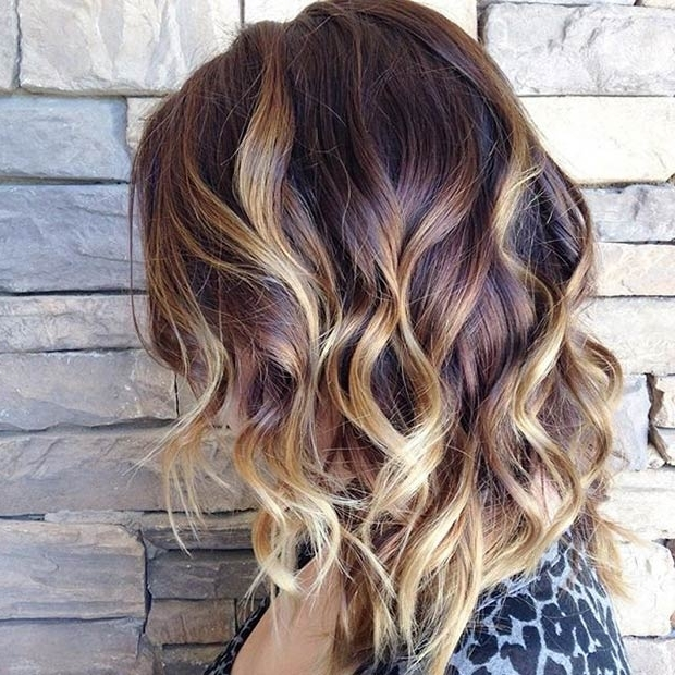 47 Hot Long Bob Haircuts And Hair Color Ideas | Stayglam Regarding Brown Blonde Balayage Lob Hairstyles (View 18 of 25)