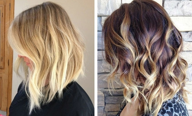 47 Hot Long Bob Haircuts And Hair Color Ideas | Stayglam With Regard To Caramel Blonde Lob With Bangs (View 16 of 25)