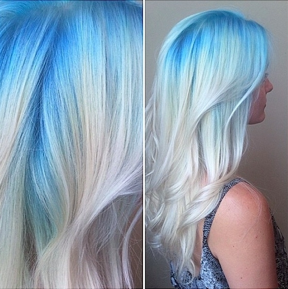 48 Ombre Hair Color Ideas We're Obsessed With – Thefashionspot Inside Icy Ombre Waves Blonde Hairstyles (View 11 of 25)