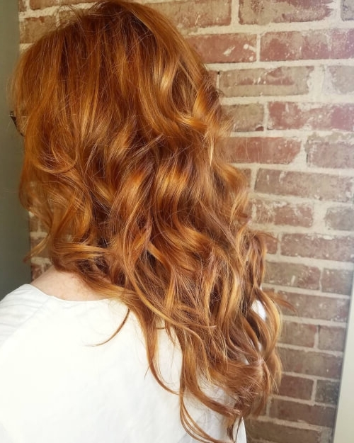 48 Smoking Red Hair Color Ideas Anyone Can Rock In Golden Bronze Blonde Hairstyles (View 19 of 25)