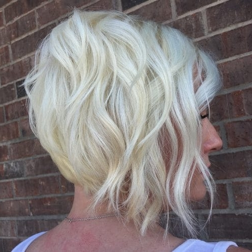 49 Chic Short Bob Hairstyles & Haircuts For Women In 2018 With Regard To Stacked White Blonde Bob Hairstyles (View 16 of 25)