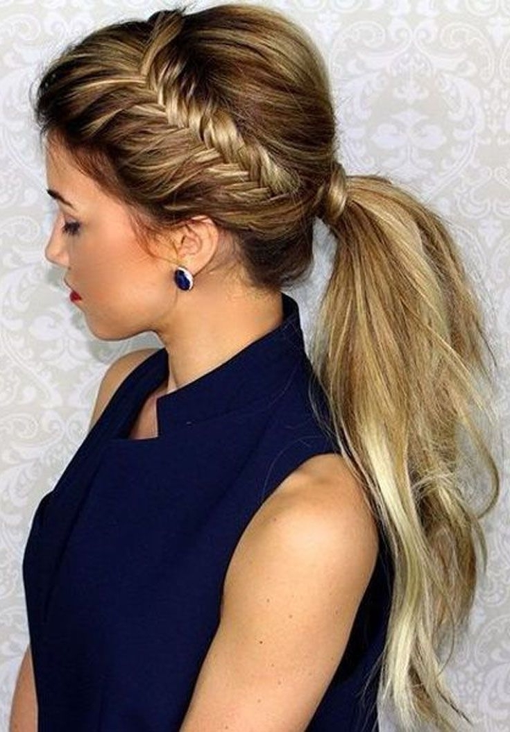 5 Best Ideas About Ponytail Hairstyles In 2018 | Hairstyles With Pony Hairstyles With Textured Braid (View 12 of 25)