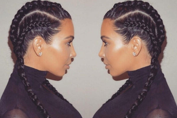5 Celebrities With Double Braid Hairstyles | Bebeautiful Pertaining To Double Braided Hairstyles (View 15 of 25)