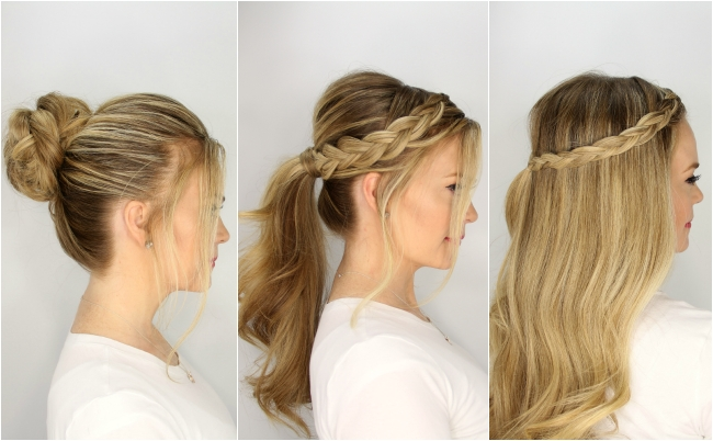 5 Harmless, Heatless Hairstyles For Summer Throughout Double Braided Wrap Around Ponytail Hairstyles (View 7 of 25)