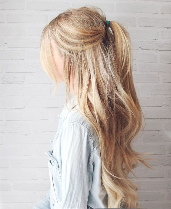 5 Lazy Day Hairstyles In 2018 | Beauty | Pinterest | Virginia Tech With Long Blond Ponytail Hairstyles With Bump And Sparkling Clip (View 9 of 25)