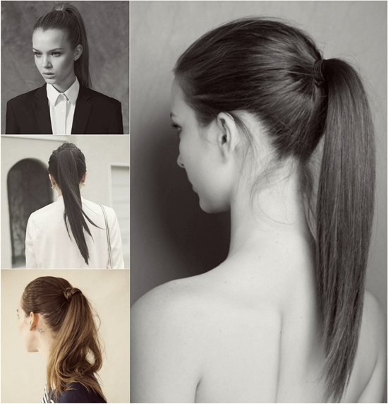 5 One Minute Basic Ponytail Hairstyles Tutorial For Daily Style In Sleek Straightened Black Ponytail Hairstyles (View 22 of 25)