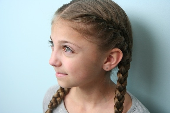 5 Popular Girls Hairstyles – Style Samba Intended For Double Braided Hairstyles (View 23 of 25)