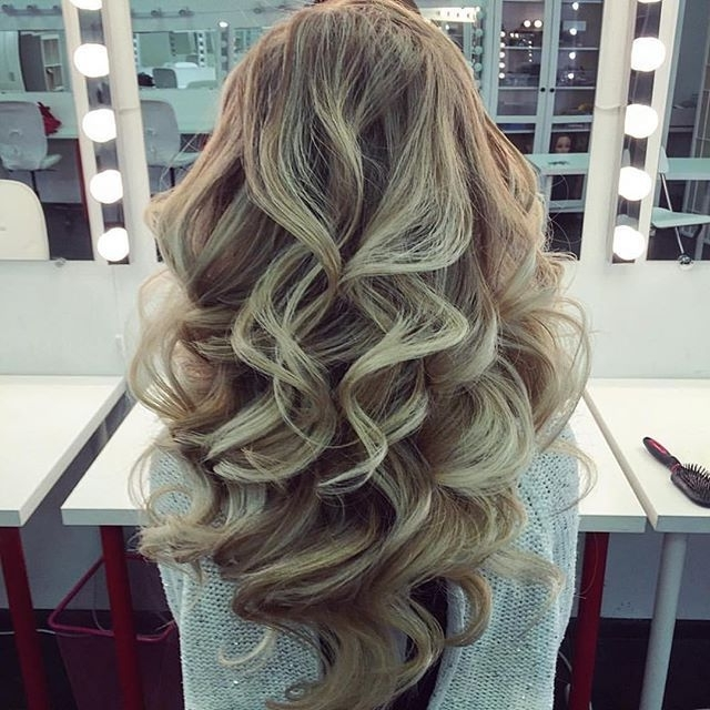 5 Pretty Date Night Hairstyles | Pinterest | Large Barrel Curling With Regard To Huge Hair Wrap And Long Curls Hairstyles (View 6 of 25)