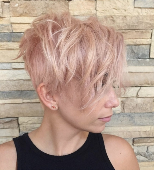 5 Rose Gold Layers – Style Skinner Within Most Popular Rose Gold Pixie Hairstyles (View 22 of 25)