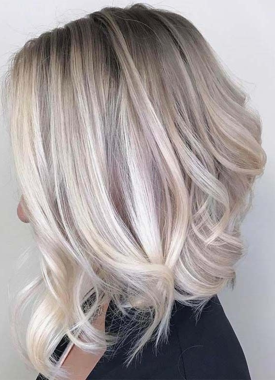 50 Amazing Ash Blonde Hairstyles For Medium Length Hair 2018 | Hair Inside Feathered Ash Blonde Hairstyles (View 8 of 25)