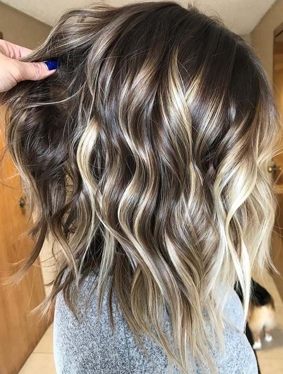 50 Amazing Contrasts Of Balayage Hair Colors In 2018 | Hair Ideas Throughout Contrasting Highlights Blonde Hairstyles (View 12 of 25)