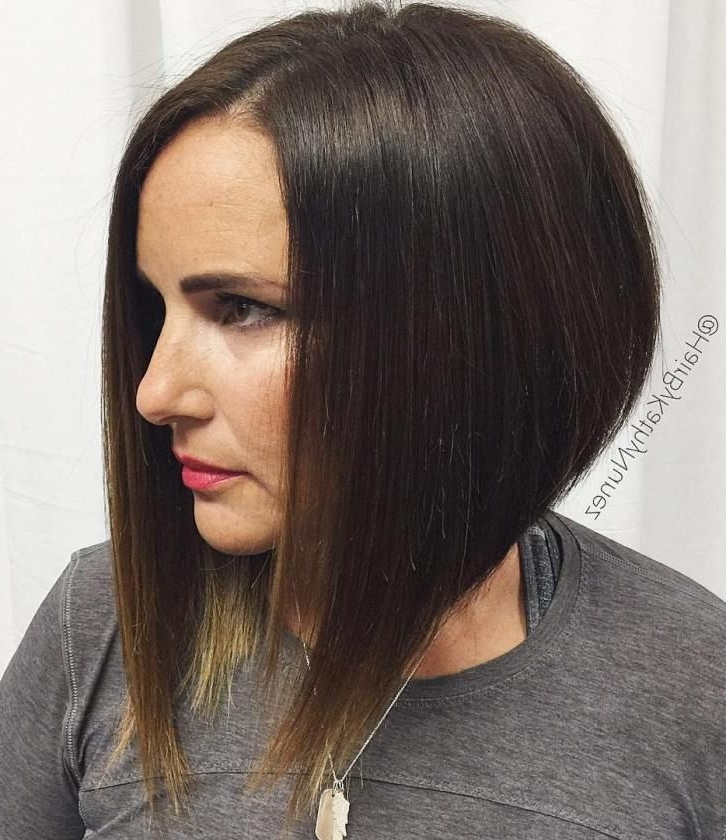 50 Beautiful And Convenient Medium Bob Hairstyles | Bobs, Bob Pertaining To Steeply Angled A Line Lob Blonde Hairstyles (View 15 of 25)