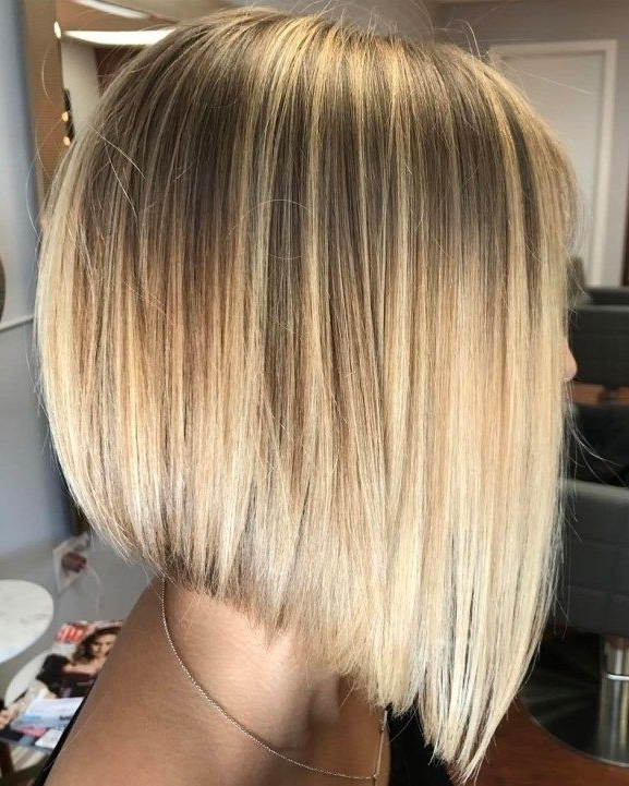 50 Beautiful And Convenient Medium Bob Hairstyles | Lob, Bob Intended For Steeply Angled A Line Lob Blonde Hairstyles (View 9 of 25)