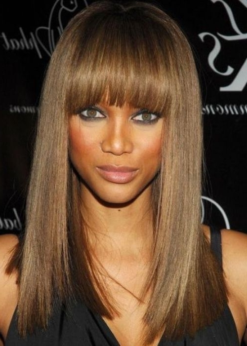 50 Best Black Weave Hairstyles | Herinterest/ With Weaved Polished Pony Hairstyles With Blunt Bangs (View 12 of 25)