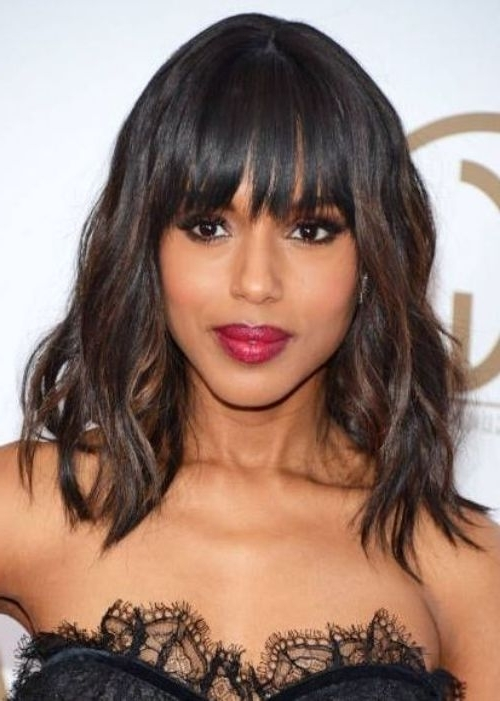 50 Best Black Weave Hairstyles | Herinterest/ Within Weaved Polished Pony Hairstyles With Blunt Bangs (View 13 of 25)